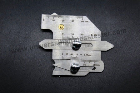 Multiple-purpose Undercut Depth Height Weld Gauge Tool For Bridge / Ship Detection